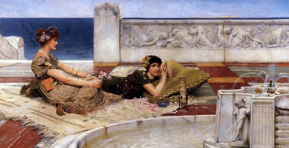 Sir Lawrence Alma-Tadema Loves Votaries - Canvas Art Print