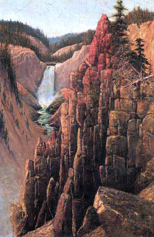 Grafton T Brown Lower Falls, Yosemite - Canvas Art Print