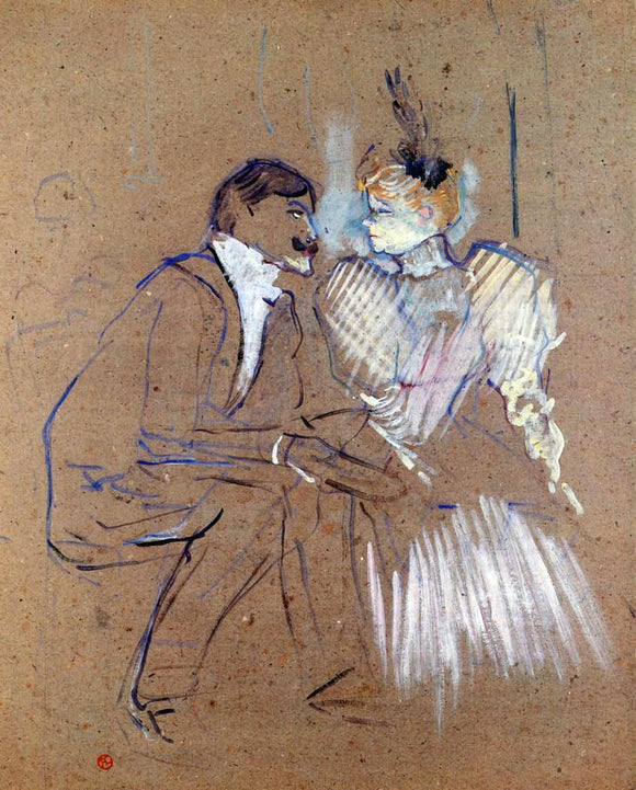 Henri De Toulouse-Lautrec Lucien Guitry and Granne Granier - Canvas Art Print