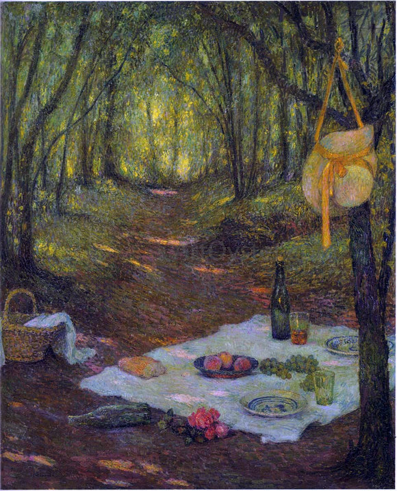 Henri Le Sidaner Lunch in the Woods at Gerberoy - Canvas Art Print