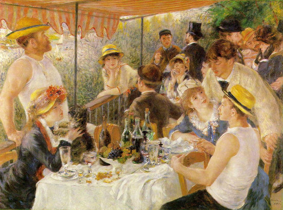 Pierre Auguste Renoir Luncheon on the Boating Party - Canvas Art Print
