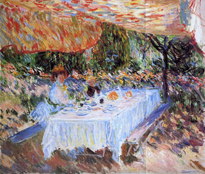Claude Oscar Monet Luncheon under the Canopy - Canvas Art Print