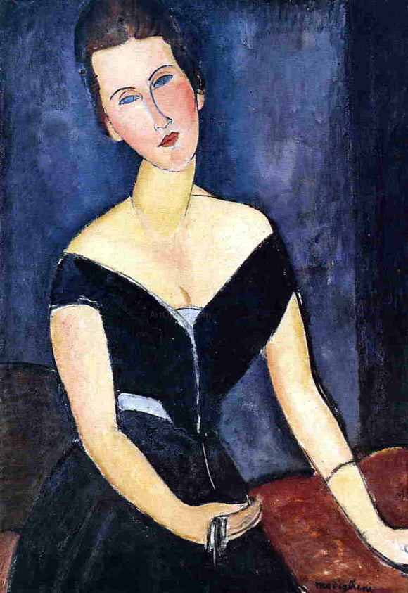 Amedeo Modigliani Madame Georges van Muyden - Canvas Art Print