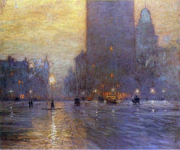 Lowell Birge Harrison Madison Square - Canvas Art Print