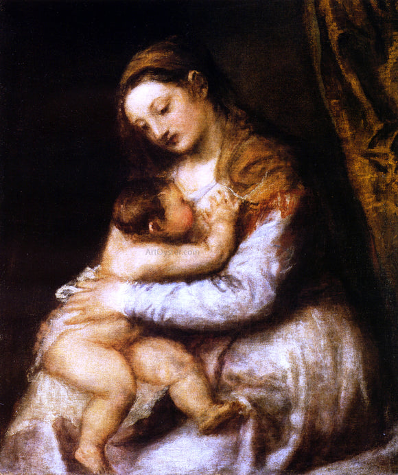 Titian Madonna and Child - Canvas Art Print