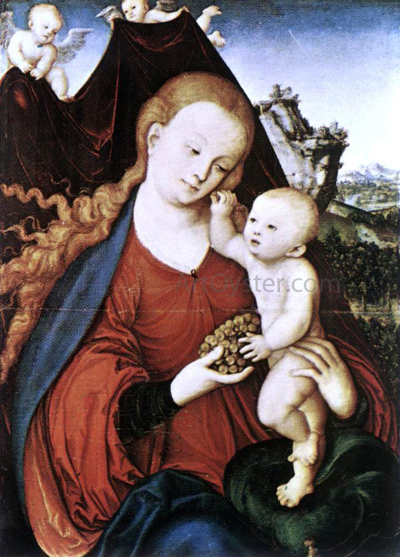 The Elder Lucas Cranach Madonna and Child - Canvas Art Print