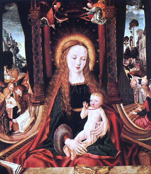 Master aix-en-chapel Altarpiece Madonna and Child - Canvas Art Print