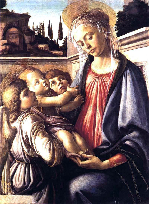 Sandro Botticelli Madonna and Child and Two Angels - Canvas Art Print