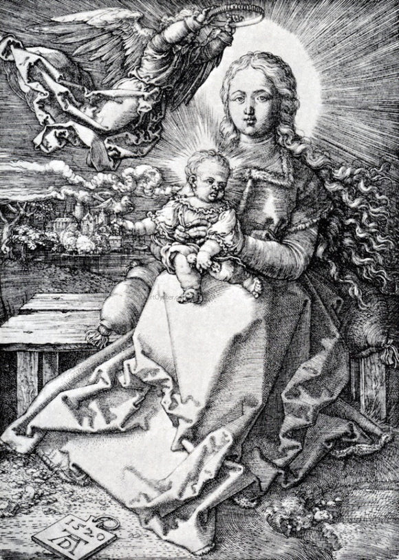 Albrecht Durer Madonna Crowned By An Angel - Canvas Art Print