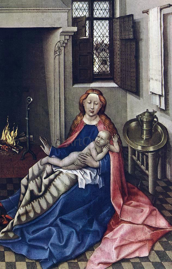 Robert Campin Madonna with the Child (altarpiece) - Canvas Art Print