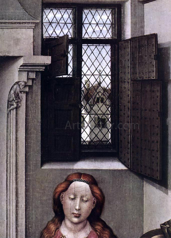 Robert Campin Madonna with the Child (detail) - Canvas Art Print