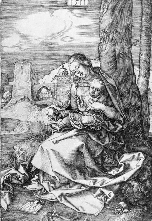 Albrecht Durer Madonna with the Pear - Canvas Art Print