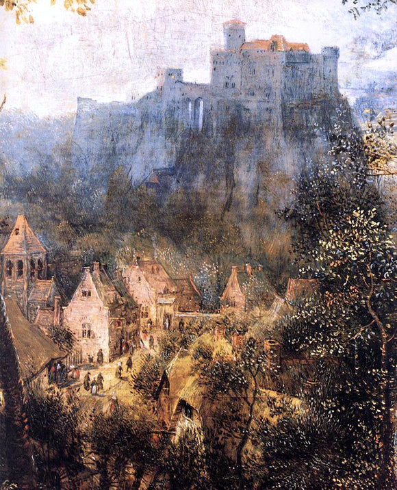The Elder Pieter Bruegel Magpie on the Gallow (detail) - Canvas Art Print