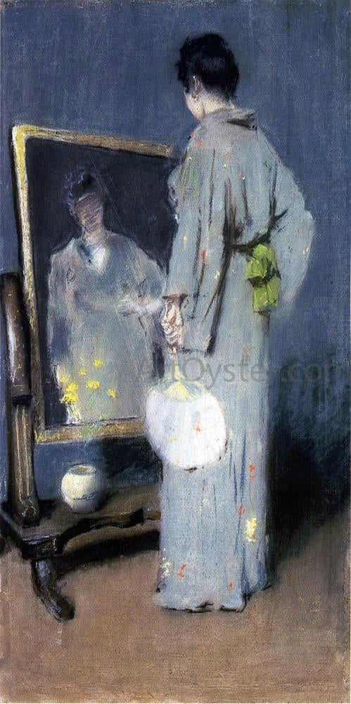 William Merritt Chase Making Her Toilet (also known as At Her Toilet) - Canvas Art Print