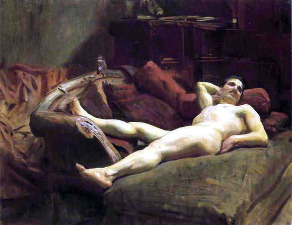 John Singer Sargent Male Model Resting - Canvas Art Print