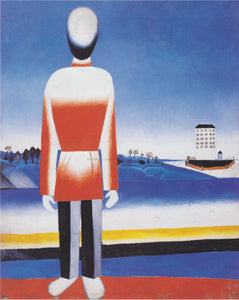 Kazimir Malevich Man Suprematic in Landscape - Canvas Art Print
