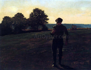 Winslow Homer Man with a Sythe - Canvas Art Print