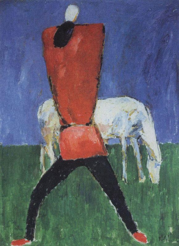 Kazimir Malevich Man with Horse - Canvas Art Print