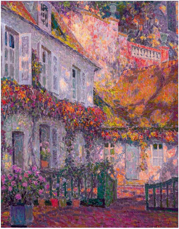 Henri Le Sidaner A Mansion in the Afternoon - Canvas Art Print