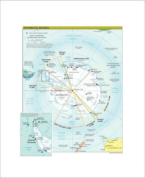 Antarctic Region Map - Political