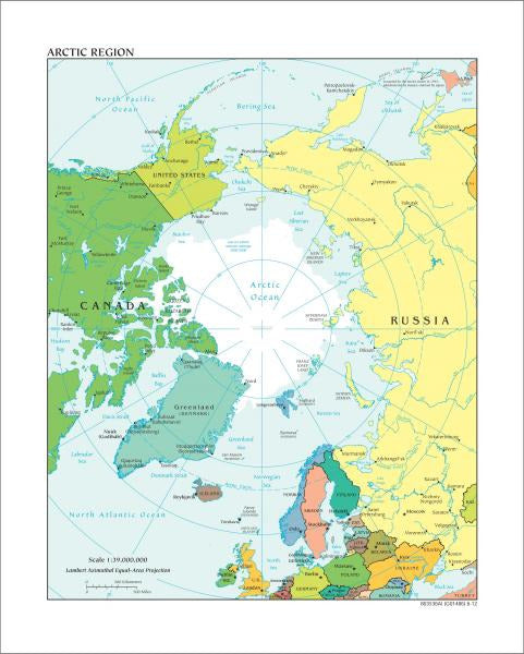 Arctic Region Map - Political