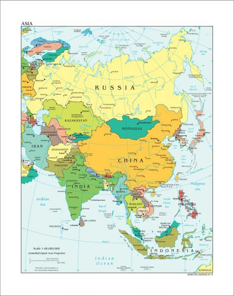 Map Of Asia To Print.Map Collection Asia Map Political Art Print Canvasartdealer