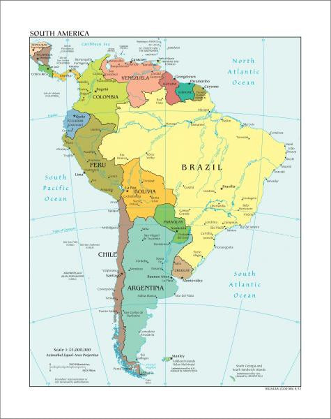 South America Map - Political