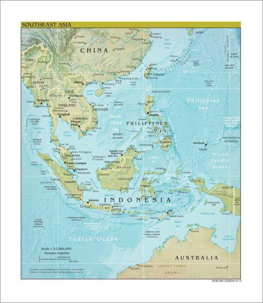 Southeast Asia Map - Physical
