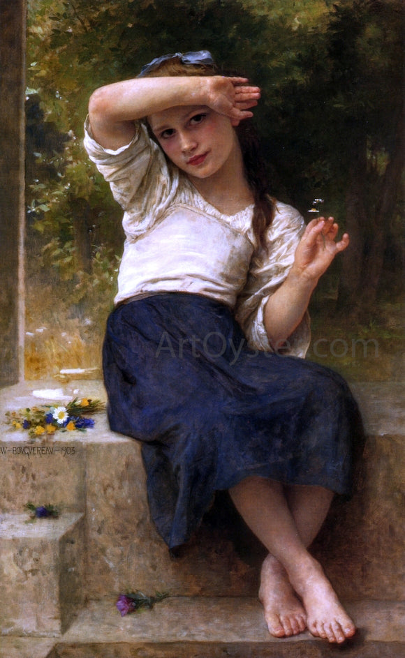 William Adolphe Bouguereau Marguerite - Canvas Art Print