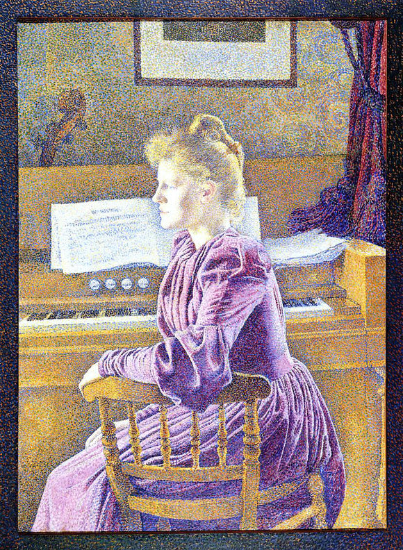 Theo Van Rysselberghe Maria Sethe at the Harmonium - Canvas Art Print