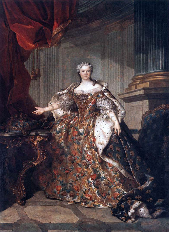 Louis Tocque Marie Leczinska, Queen of France - Canvas Art Print
