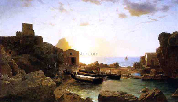 William Stanley Haseltine Marina Piccola, Capri - Canvas Art Print