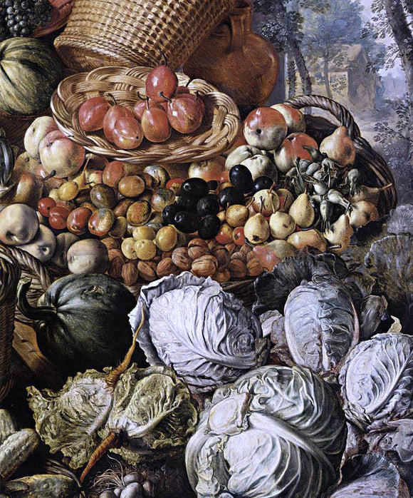 Joachim Beuckelaer Market Woman with Fruit, Vegetables and Poultry (detail) - Canvas Art Print