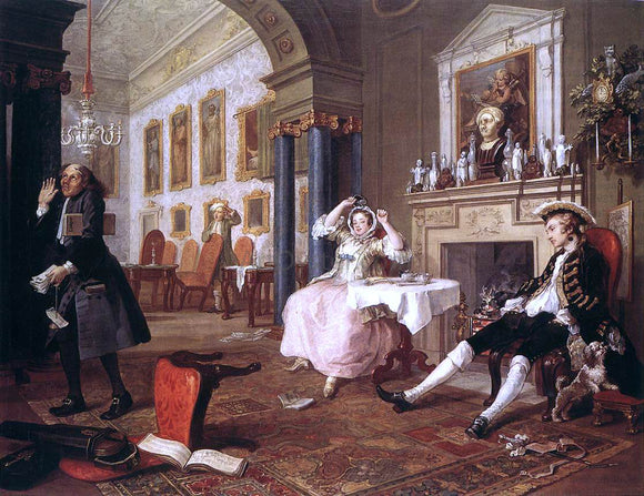 William Hogarth Marriage a la Mode - Canvas Art Print