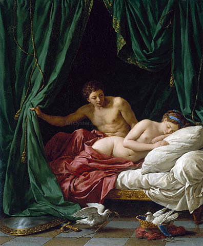 Louis-Jean-Francois Lagrenee Mars and Venus - Canvas Art Print