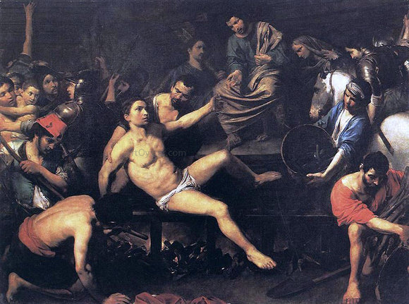 Valentin De boulogne Martyrdom of St Lawrence - Canvas Art Print