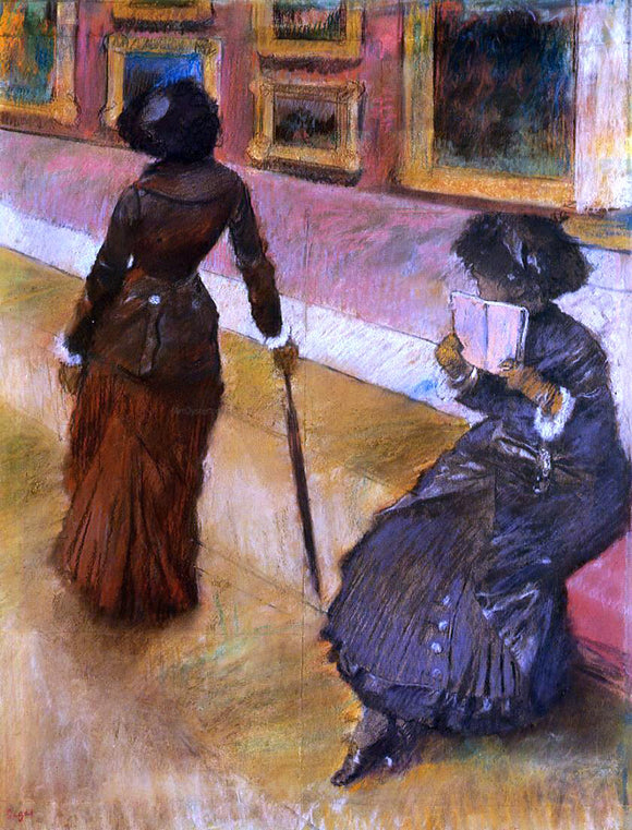 Edgar Degas Mary Cassatt at the Louvre - Canvas Art Print