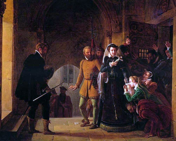 Pierre Revoil Mary, Queen of Scots, Separated from Her Faithfuls - Canvas Art Print