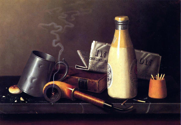 William Michael Harnett Materials for a Leisure Hour - Canvas Art Print