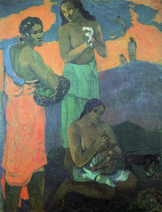 Paul Gauguin Maternity (also known as Three Woman on the Seashore) - Canvas Art Print