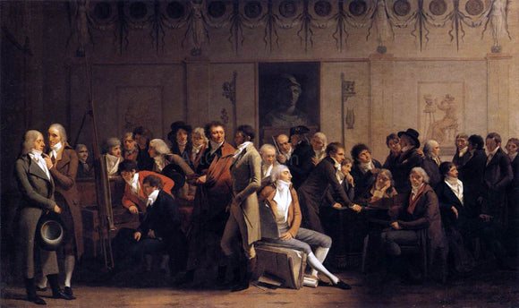 Louis Leopold Boilly Meeting of Artists in Isabey's Studio - Canvas Art Print