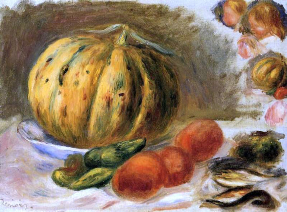 Pierre Auguste Renoir Melon and Tomatos - Canvas Art Print
