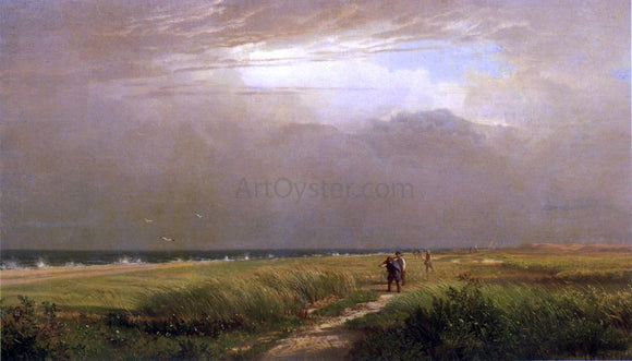 William Trost Richards Men on the Shore - Canvas Art Print