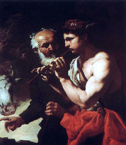 Johann Karl Loth Mercury Piping to Argus - Canvas Art Print