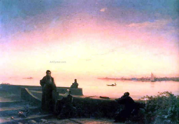Ivan Constantinovich Aivazovsky Mhitarists on Island of St. Lazarus - Canvas Art Print