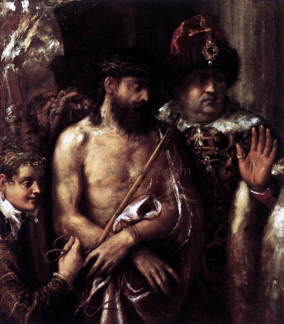 Titian Mocking of Christ - Canvas Art Print