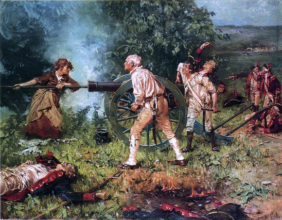 Franz Ludwig Catel Molly Pitcher at The Battle of Monmouth, 1778 - Canvas Art Print