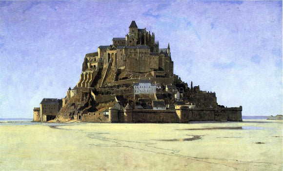 William Stanley Haseltine Mont Saint Michel - Canvas Art Print