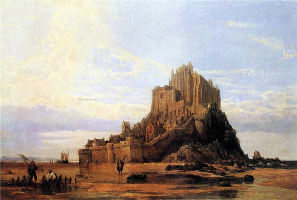 George Clarkson Stanfield Mont St. Michel, Normandy, Falling Tide - Canvas Art Print