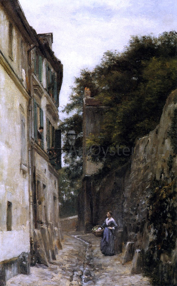 Stanislas Lepine Montmartre, the Rue Saint-Vincent - Canvas Art Print